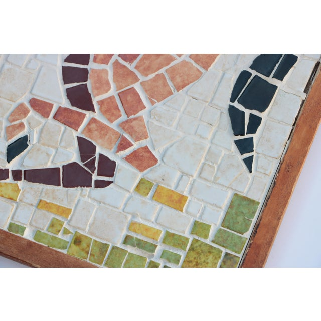 Mediterranean Mid-Century Horse Wall Mosaic For Sale - Image 3 of 5