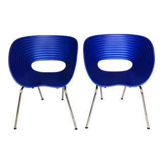 Modern Tom Vac Chairs by Ron Arad in Blue - A Pair For Sale
