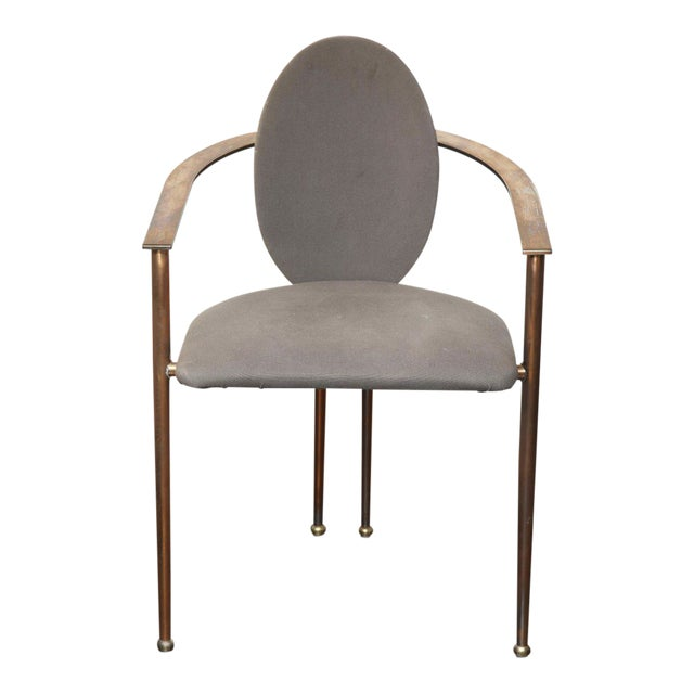Set of Four Rose Gold-Plated Metal Chairs, 1970s For Sale