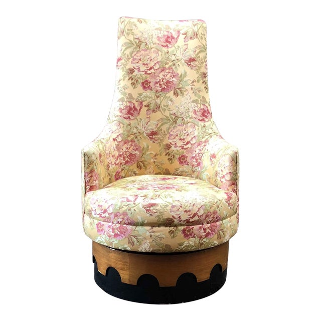 1960s Adrian Pearsall High Back Spanish Style Chair For Sale
