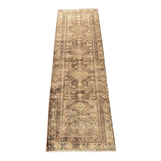 1950s Vintage Persian Sarab Runner - 3′1″ × 10′6″ For Sale