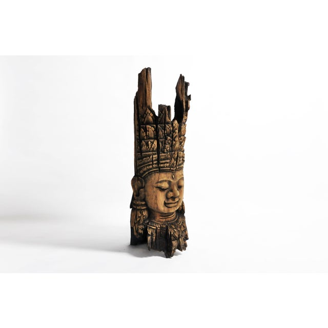 Asian Southeast Asian Carving of Goddess For Sale - Image 3 of 13