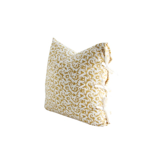 Les Indiennes Anais Deco Gold Throw Pillow - Image 2 of 2