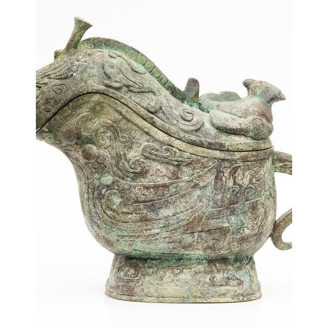 Lawrence & Scott Large Verdigris Bronze Snail Box For Sale - Image 10 of 10
