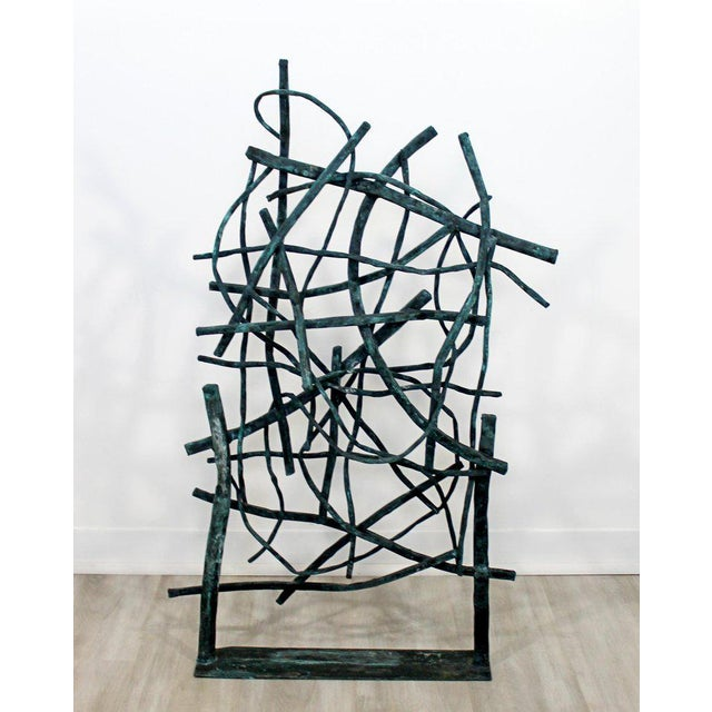 Contemporary Contemporary Forged Painted Copper Metal Abstract Table Sculpture Robert Hansen For Sale - Image 3 of 9