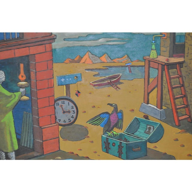 1940s 1940s Surreal Painting by R. Sterling For Sale - Image 5 of 8