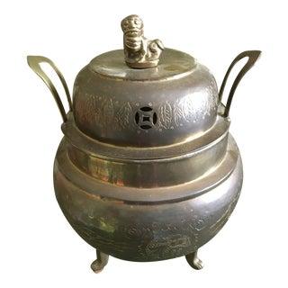 1970s Brass Dragons Censer or Incense Pot For Sale