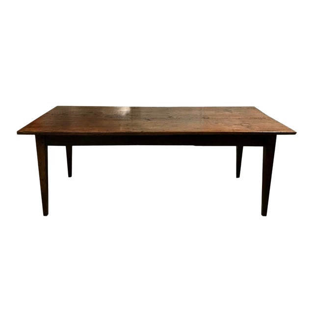 Antique Spanish Teak Dining Table For Sale