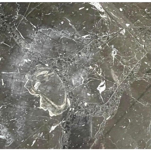 1980s Nero Marquina Black Marble Dining Table For Sale - Image 11 of 13
