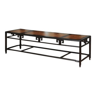 "Elegant Burl Inlay Coffee Table, ""Far East"" Collection by Baker For Sale"