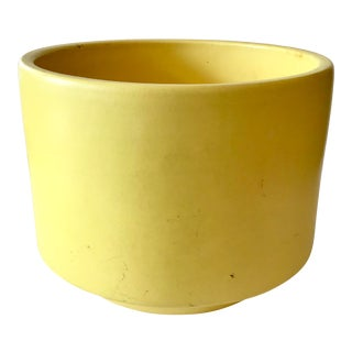 Modern Yellow Ceramic Cachepot For Sale