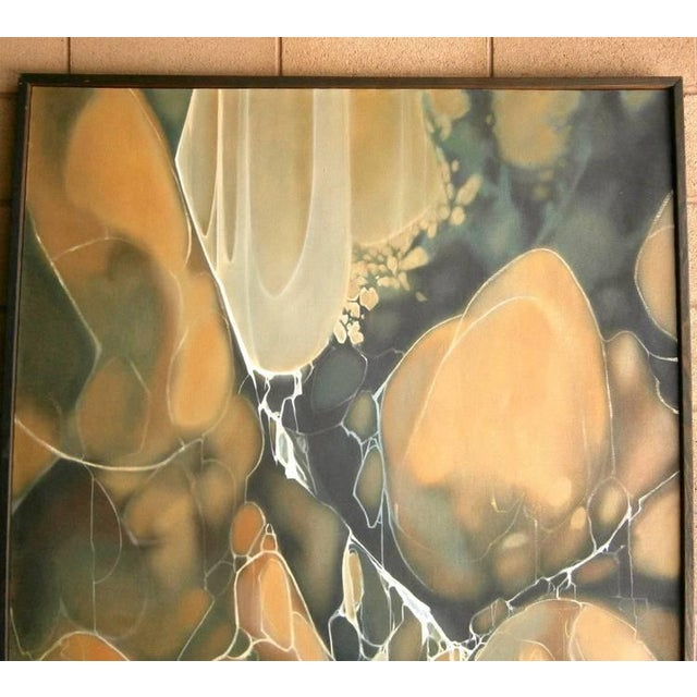 "Mid-Century Modern Frank Lackaff ""Waterfall"" Painting For Sale - Image 3 of 7"