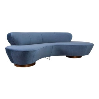 Vladimir Kagan Mohair Cloud Sofa by Directional For Sale