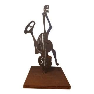 Musical Brutalist Steel Sculpture For Sale