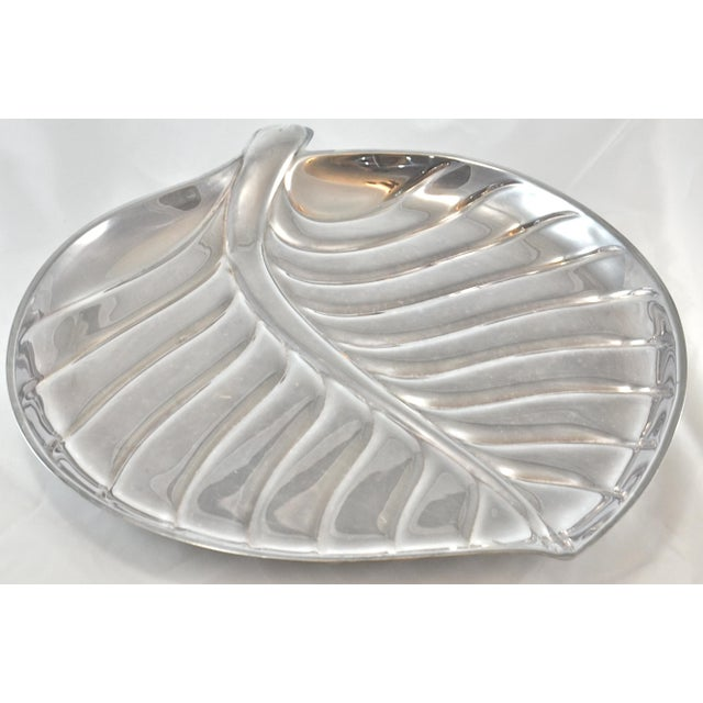 Silver Leaf Design Tray by International Silver Company For Sale - Image 5 of 5