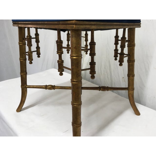 Antique Faux Bamboo Stool For Sale In Atlanta - Image 6 of 11