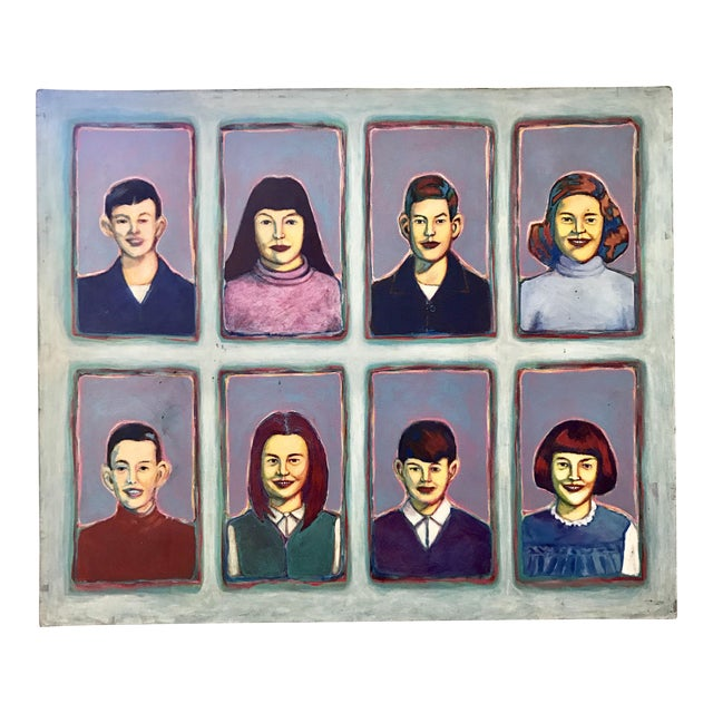 "Greg Favors ""Sixth Grade Portraits"" Acrylic on Canvas Painting For Sale"