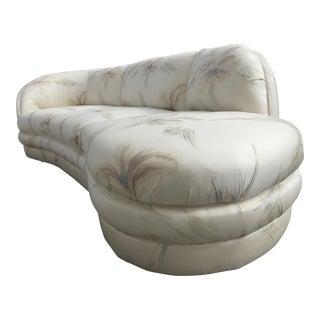 Vintage Mid-Century Modern Kagan Curved Platform Sofa For Sale
