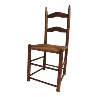 Shaker Country Child's Chair With Rush Seat For Sale