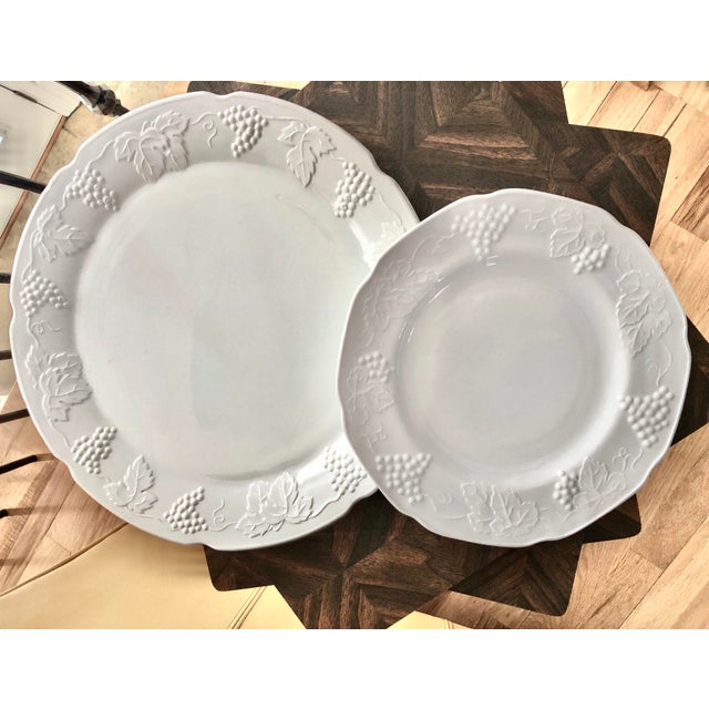 1950s 1950s Harvest Milk Glass Torte & Serving Plates by Colony - a Pair For Sale - Image 5 of 13