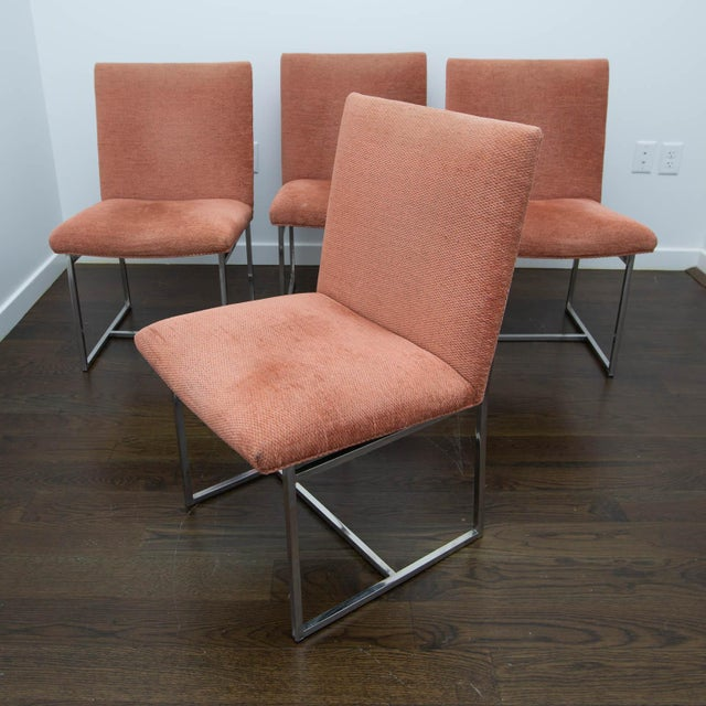 Set of 4 Milo Baughman Style Dining Chairs For Sale - Image 10 of 10