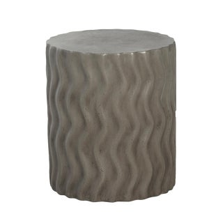 Cement Waves Side Table For Sale