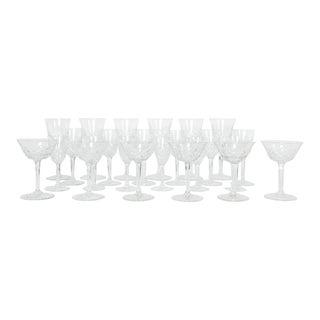Vintage Baccarat Crystal Glassware - Set of 18 For Sale