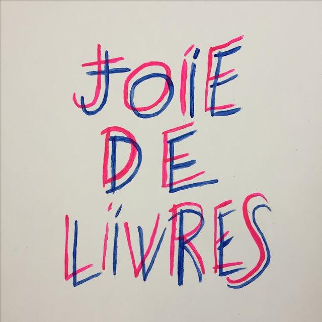 "Contemporary ""Joie De Livres"" Modern Print For Sale - Image 3 of 5"