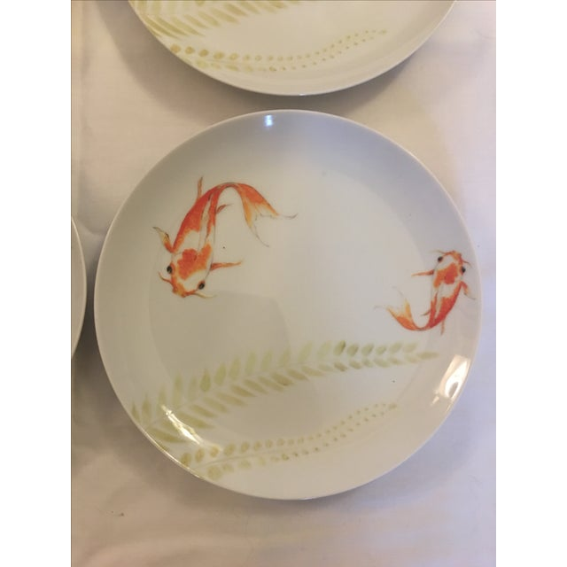 Decorative Koi Fish Plates - Set of 4 - Image 6 of 7