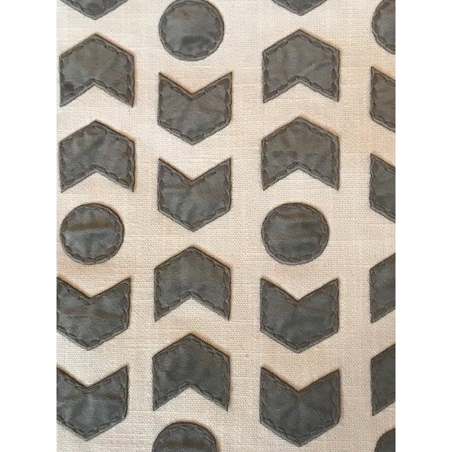 Romo / Zinc Arrowhead Fabric in Mercury - 2 1/2 Yards For Sale - Image 4 of 6
