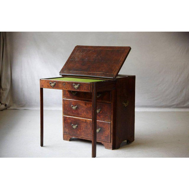 Important Queen Anne Walnut Architect's Chest, Circa 1710 For Sale - Image 10 of 10