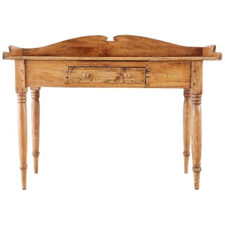 19th Century Country French Farmhouse Pine Server Sideboard For Sale