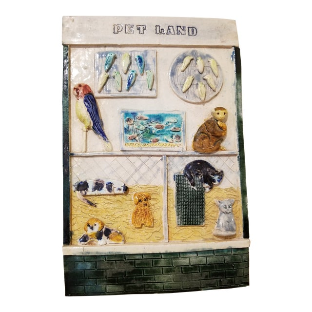 Ceramic Pet Store Theme Wall Plaque For Sale