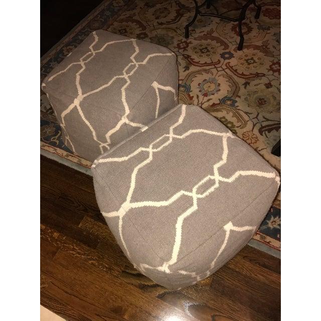 Jill Rosenwald Dhurrie Cube Poufs - Pair - Image 6 of 7