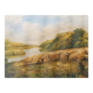 English Harvest Painting