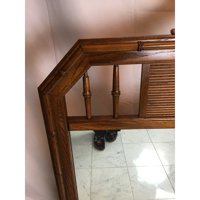 Vintage wood mirror by Lenoir. Great as is or paint it and make it pop in any room! Heavy, solid constructed, circa 1960's.