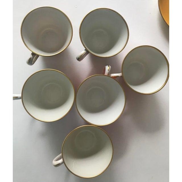 Mid Century Italian Richard Ginori Tea Cups/Demitasse Set - Set of Six, 12 Pieces For Sale - Image 6 of 13