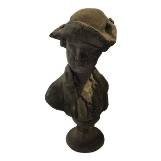 19th Century Concrete Tricorn Statue For Sale