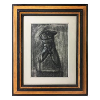 Charcoal Drawing of Male Torso Preview