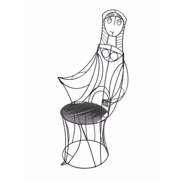 John Risley John Risley Four Pieces Welded Wire Outdoor Dining Dinette Set For Sale - Image 4 of 10