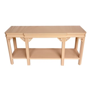 Pink Lacquered Console by Lane For Sale