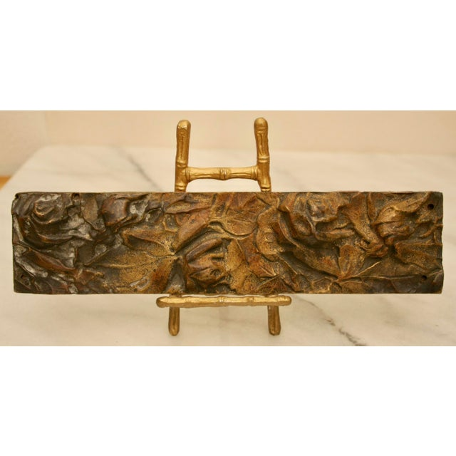 Bronze Abstract on Brass Faux Bamboo Easel - Image 2 of 8
