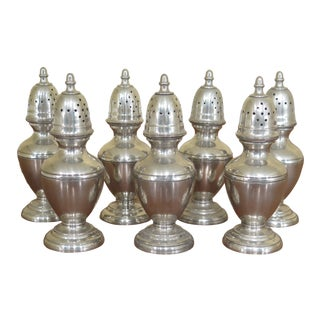 Steiff Pewter Colonial Williamsburg Salt & Pepper Shakers - Lot of 7 For Sale