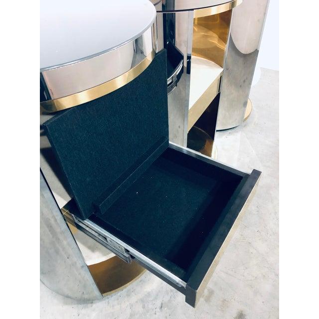 Paul Evans Mirror Polished Steel Cylinder Sideboard For Sale - Image 11 of 13