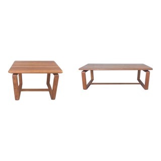 Mid Century Modern Danish Teak Coffee and Side Tables - Set of 2 For Sale