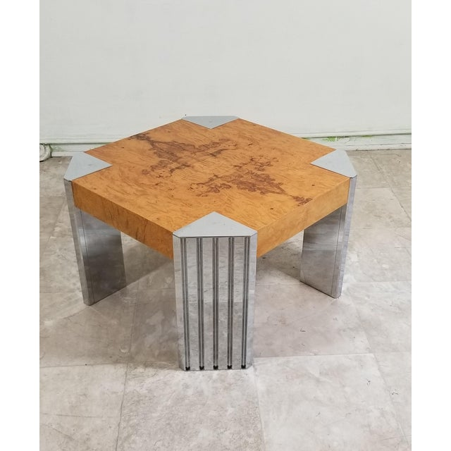 Pace Burl Wood Coffee Table For Sale - Image 4 of 12
