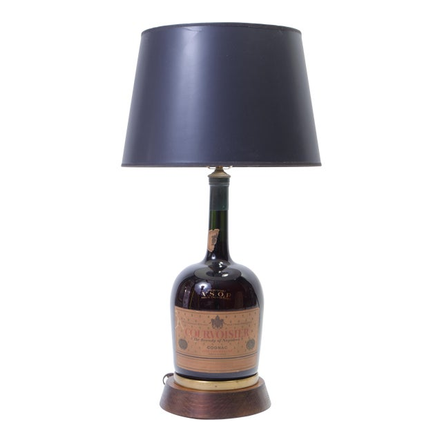 Vintage Courvoisier Bottle Lamp For Sale