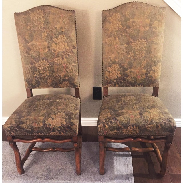 Antique French Os De Mouton Pegged Oak Dining Chairs - a Pair For Sale - Image 10 of 10