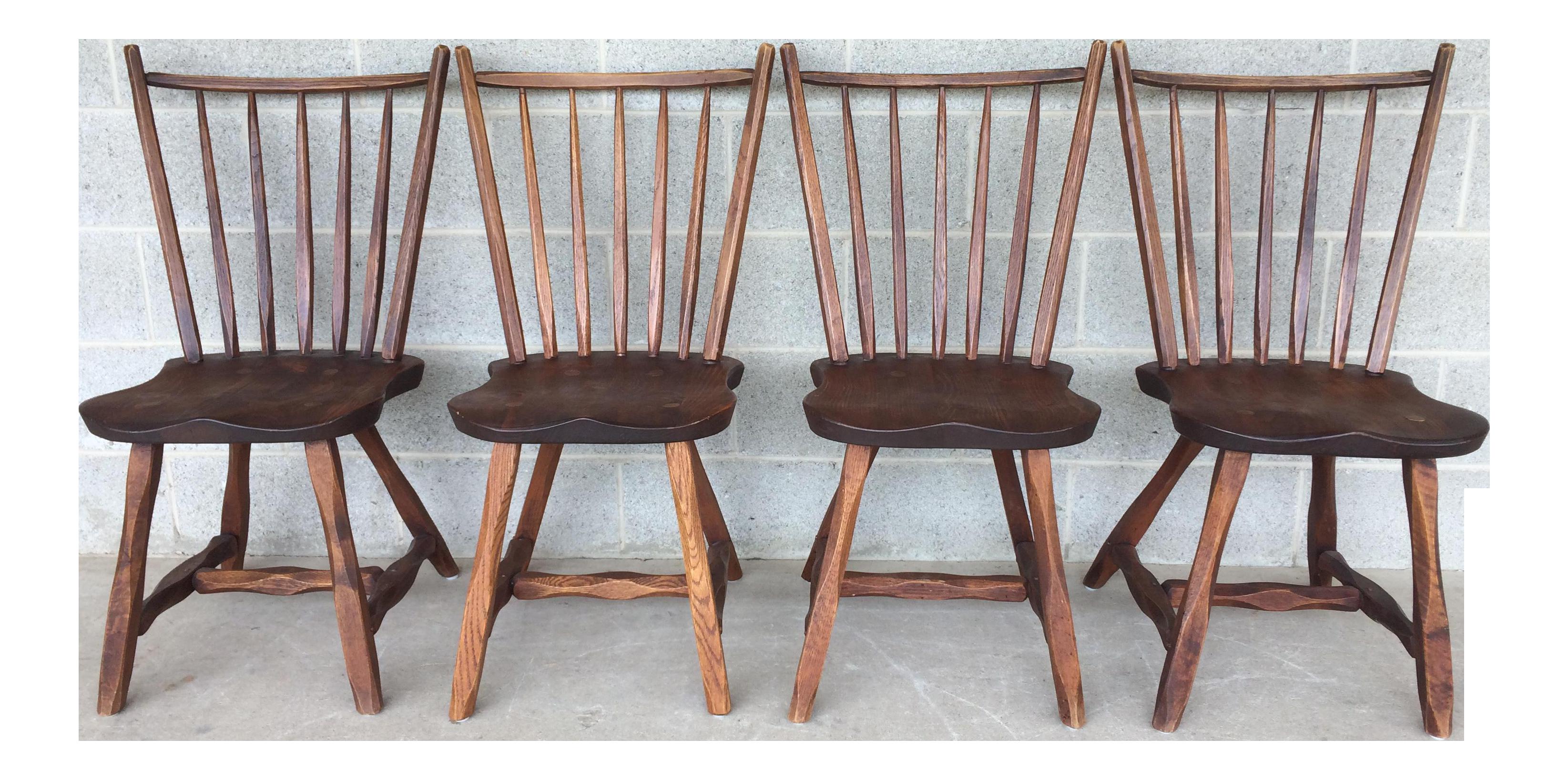 Elegant Hunt Country Furniture Oak Side Chairs   Set Of 4