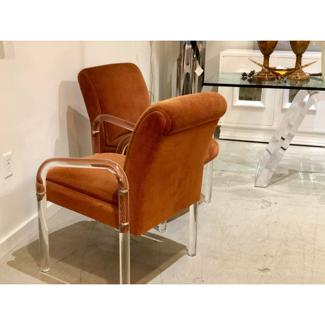 Lucite Armchairs by Lion in Frost. America, C. 1970s - a Pair For Sale In West Palm - Image 6 of 13